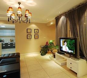 时尚简约设计两居室装修效果图片