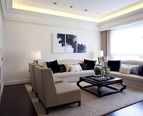 纯白时尚现代四居室设计装修图片