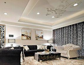 时尚欧式设计三居装修效果图片