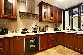 美式复古别墅厨房设计效果图片欣赏