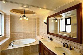 美式家居室内卫生间设计效果图片