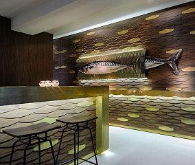 希腊LOFT风格海洋主题咖啡厅