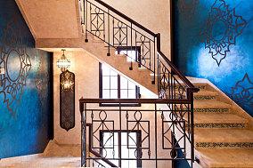 传统东南亚风格楼梯效果图