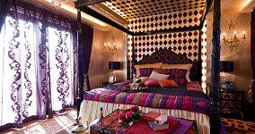 传统东南亚风格卧室效果图