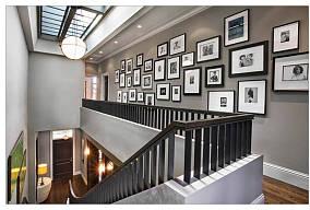 楼梯间照片墙装饰图片
