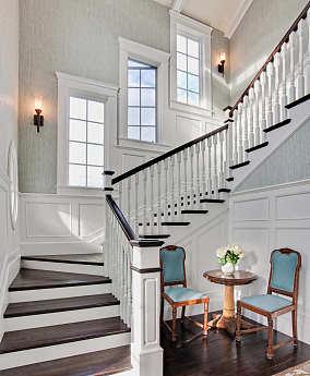 欧式别墅楼梯设计图片