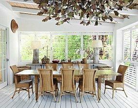 面积126平别墅餐厅东南亚装修效果图片