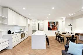 清新漆白厨房图