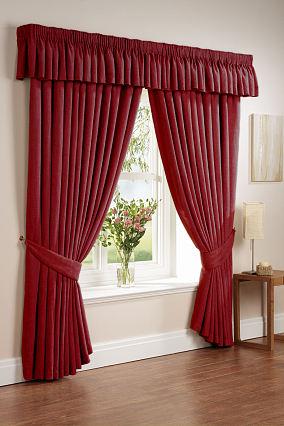时尚鲜艳窗帘设计图