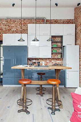 40平米一居室家装餐厅图