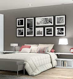 卧房相片墙效果图