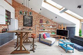 40平米一居室家装客厅设计效果图