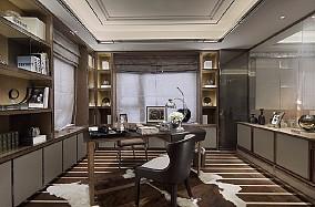 新古典二居室家装书房效果图