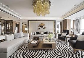 新古典二居室家装客厅设计效果图