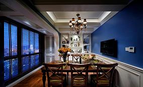 时尚蓝色地中海家装餐厅效果图