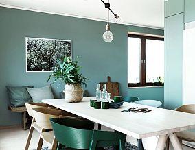 绿色宜家设计一居室效果图