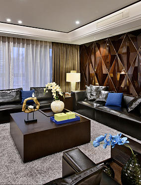 美式典雅三居室客厅效果图