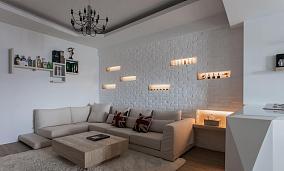 现代风一居室装修效果图