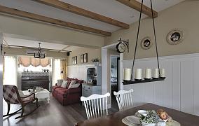 美式乡村风一居室效果图