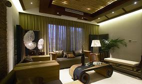 东南亚装修风格二居室设计效果图