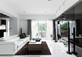 现代精装修三居室效果图片