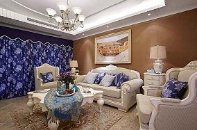 地中海优雅系列三居室装修效果图