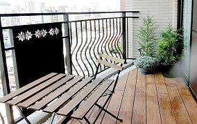 自然清新现代化阳台装修效果图