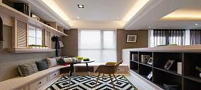 雅致时尚美式风格三居室装修效果图