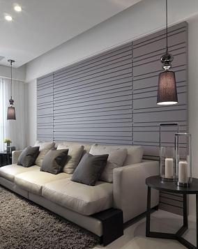 雅致时尚现代风三居室装修效果图