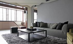 现代风低调感一居室效果图