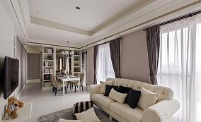 清新优雅新古典三居室装修效果图