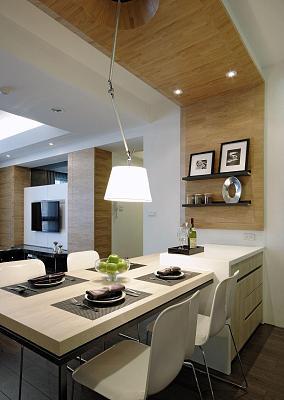 现代气质华美二居室装修效果图