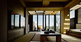 气质静谧日式风格客厅装修效果图