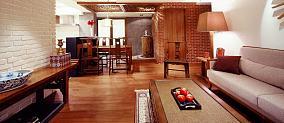 中式风情三居室装修效果图
