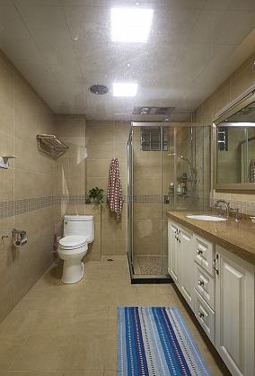 轻复古时尚家居卫生间装修效果图