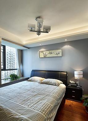 现代化中式风格二居室装修效果图