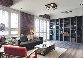 Loft风复古工业感一居室图