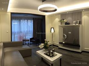整洁低调的现代风格三居室设计效果图
