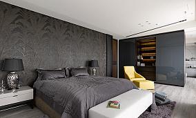 暗色调舒适卧室设计效果图