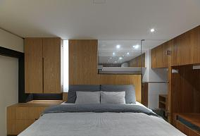 淡雅木质日式风卧室设计效果图