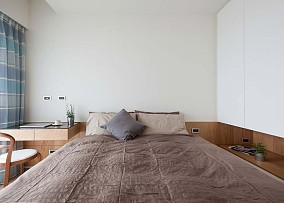 日式原木禅意卧室图片