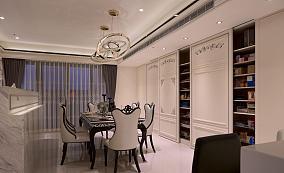 简洁古典风格餐厅设计效果图
