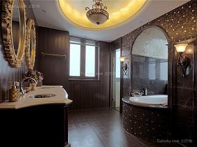 欧式浪漫奢华卫浴装修效果图