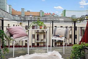 北欧风情简单清美阳台图