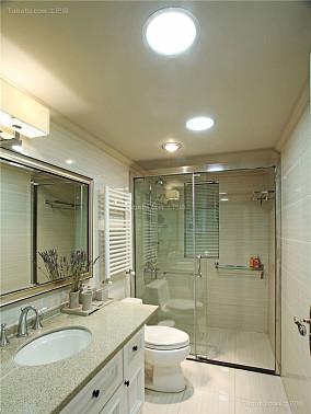 复古创意中式风格的卫生间装修效果图