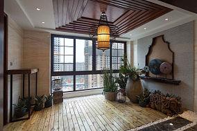 神秘东南亚风情阳台设计效果图