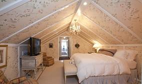 田园风格阁楼卧室图