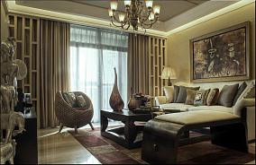 质感东南亚风情客厅装修效果图