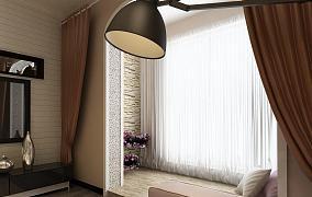 主卧室窗帘效果图片