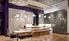 开放式厨房吧台酒柜
